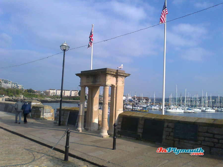 The Mayflower Memorial, Plymouth Barbican