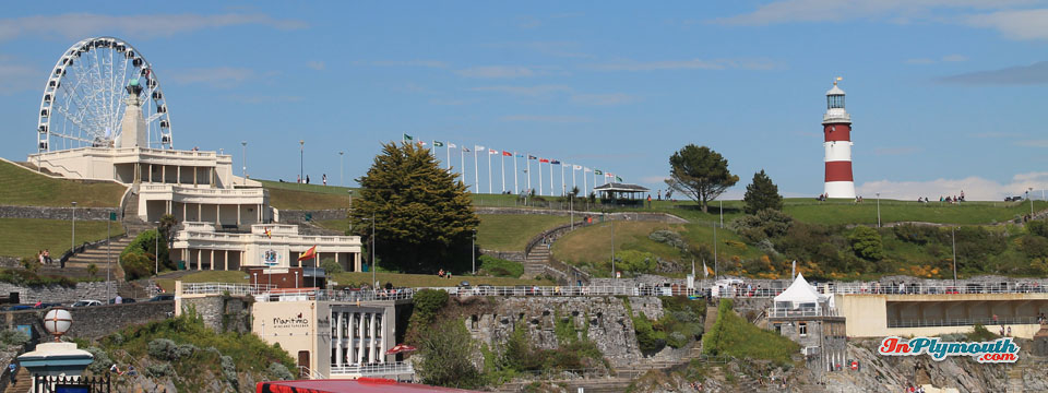 Plymouth Hoe panorama