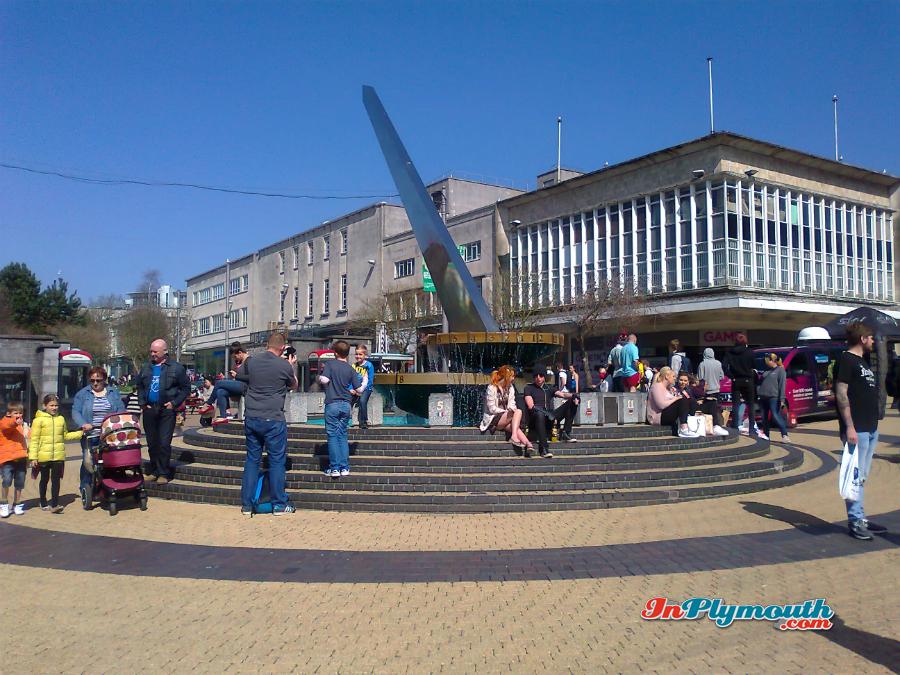 The Sundial, Plymouth City Centre, Devon, UK