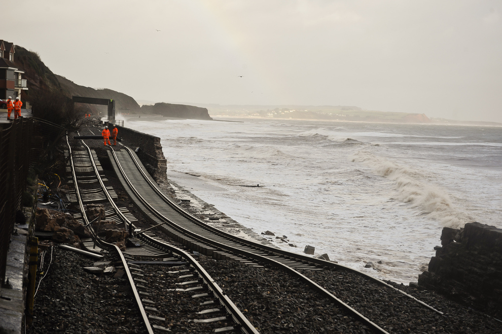 Rail line damage, Dawlish