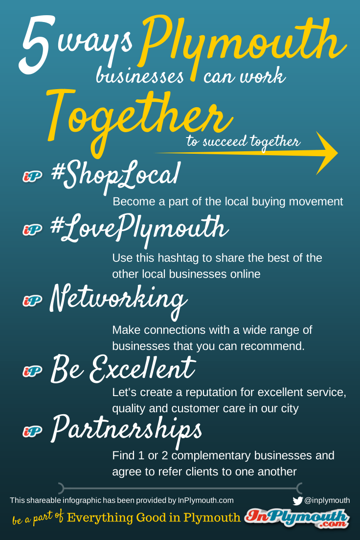 Infographic - 5 ways Plymouth businesses can work together