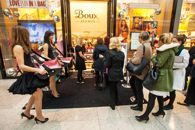 Boux Avenue in Plymouth on Opening Day
