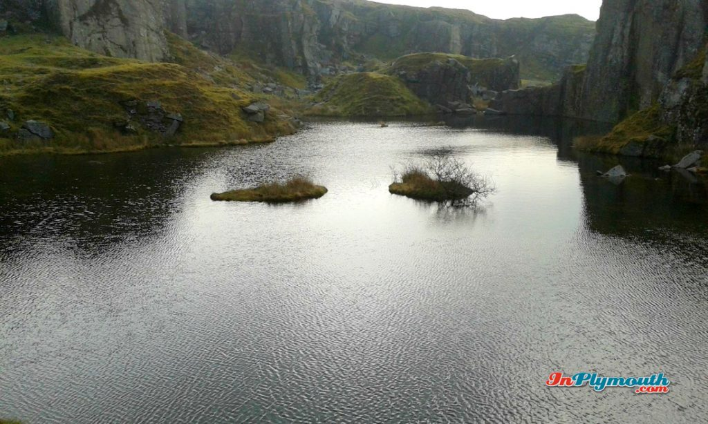 Lake at King's Tor Quarry March 2015