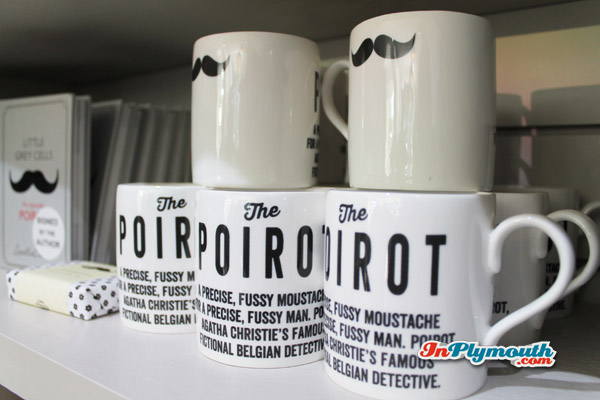 Poirot mugs in the gift shop